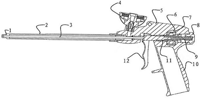 Пистолет состоит из корпусной