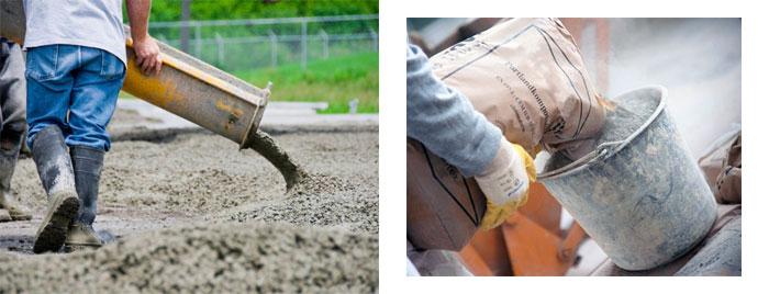 пропорции бетона в вёдрах