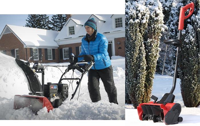 снегоуборщик и электролопата