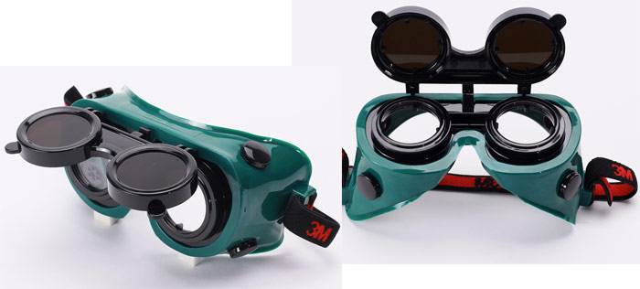 очки газосварщика с откидными стёклами