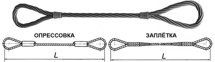 строп петлевой канатный