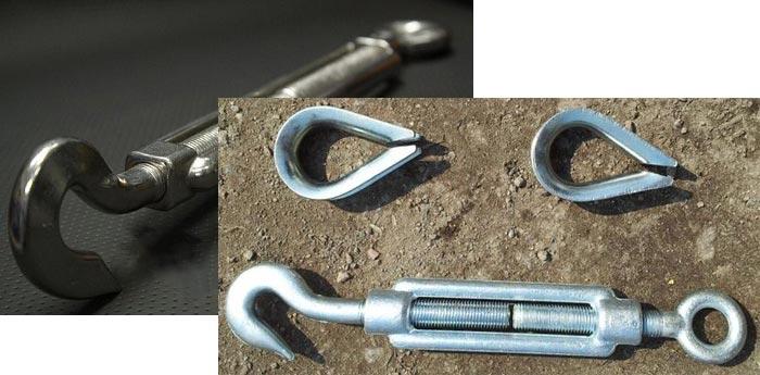 Талреп крюк-кольцо. Гост и размерный ряд