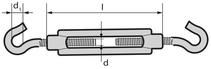 Талреп крюк-крюк. Как выбрать подходящий размер?