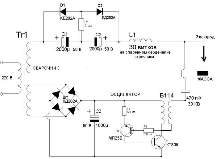 Сварочный осциллятор. Стабилизация горения сварочной дуги