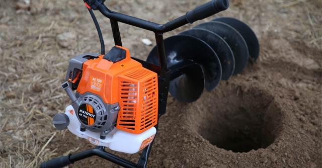 Бензиновый бур для земляных работ и установки столбов   ПроИнструмент