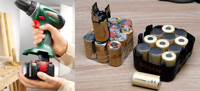 ремонт банок для аккумулятора шуруповерта