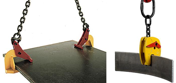 Строп цепной с захватом листового металла
